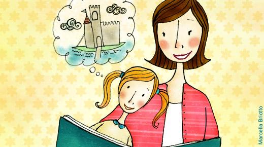 Imagem ilustrativa: mãe e filha lendo